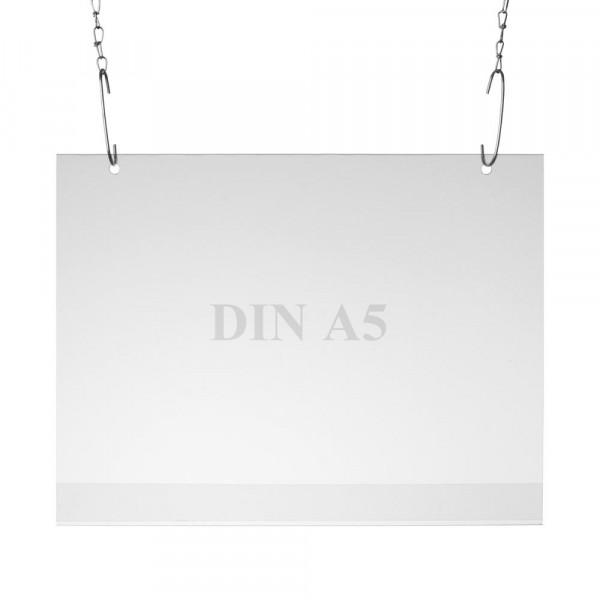 Plakattasche Einzelblatt DIN A5, Querformat