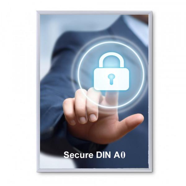 Klapprahmen Security 32mm DIN A0 Sicherheitsprofil