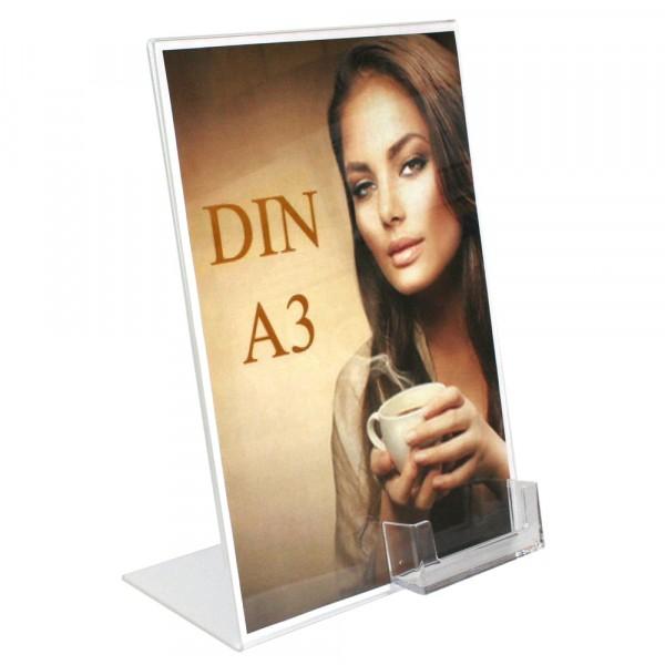 Premiumaufsteller DIN A3 mit Box DIN A6 Querformat
