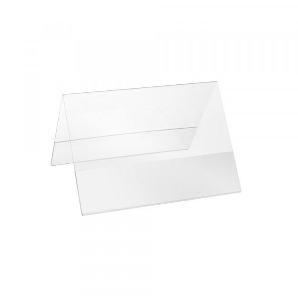 Plexiglas® Aufsteller Dachform - DIN A6 Querformat