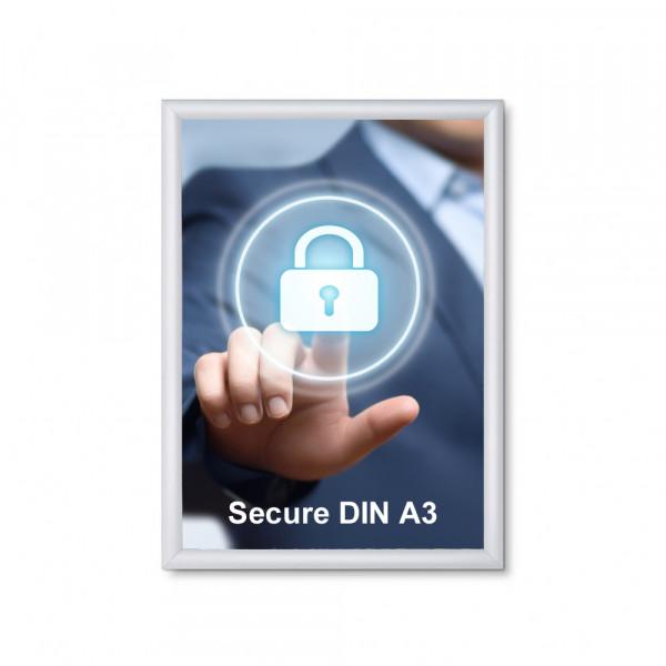Klapprahmen Security 20mm DIN A3 Sicherheitsprofil