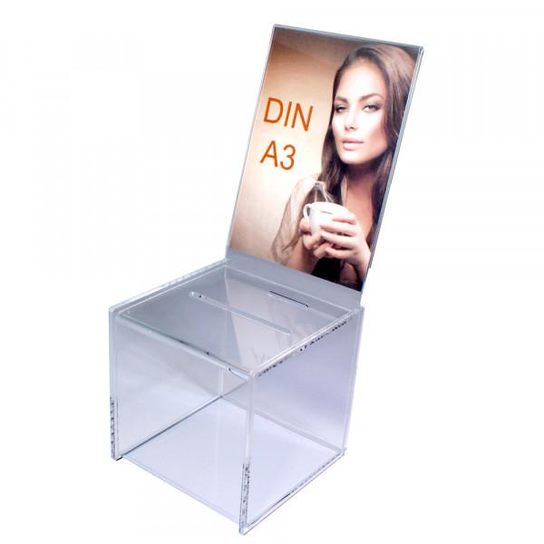 Zubehör: Topschild DIN A3 hoch für Premium Losbox 30cm