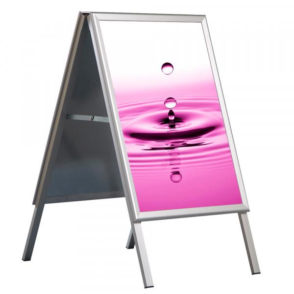 Kundenstopper wasserdicht DIN A0 mit UV-Folientaschen