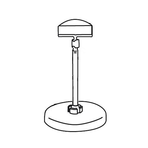 Schildhalter groß 50mm mit Standfuss und Stab 57mm - VersaGrip