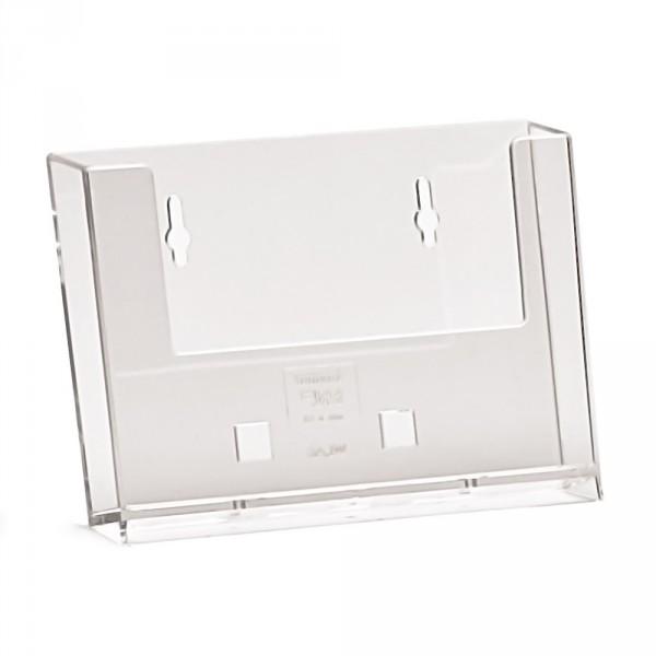 Wand-Prospekthalter Taymar® DIN A6 quer mit Standfuß