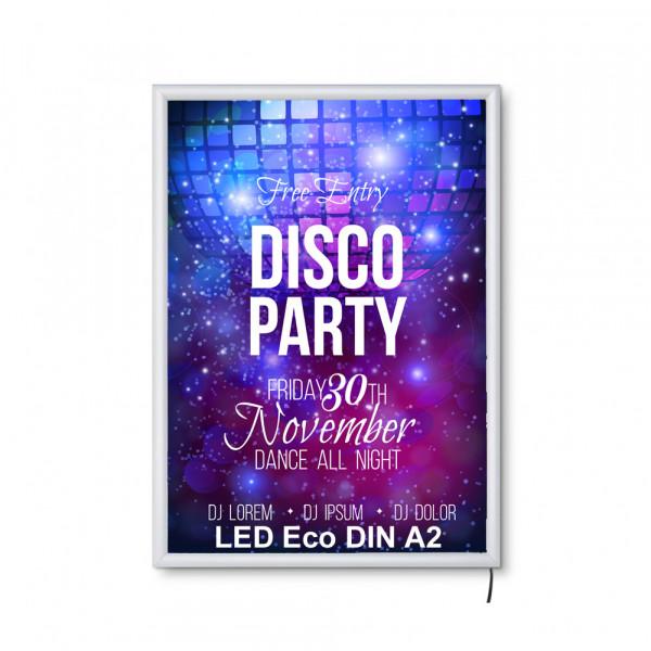 LED DIN A2 Leuchtrahmen ECO 19mm
