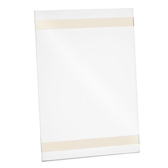 Wanddisplay Einzelblatt DIN A5 mit Klebestreifen Hochformat
