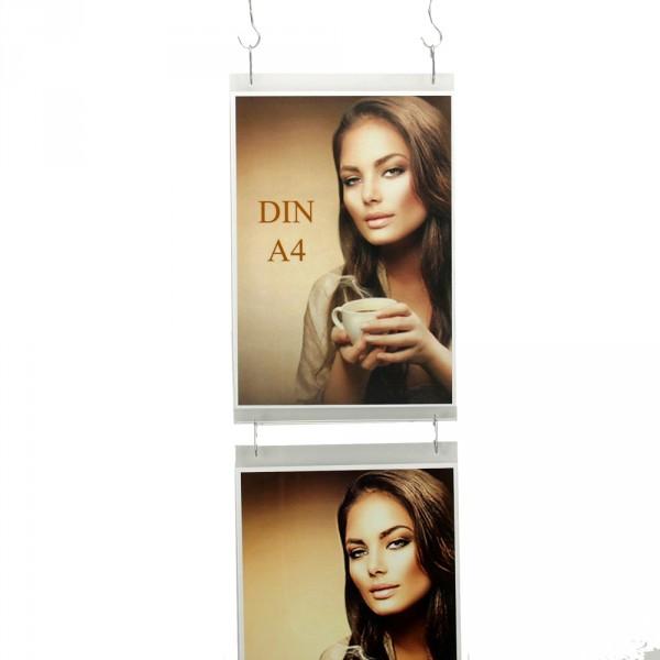 Wanddisplay Einzelblatt DIN A4 Hochformat in Endlos-Hängung