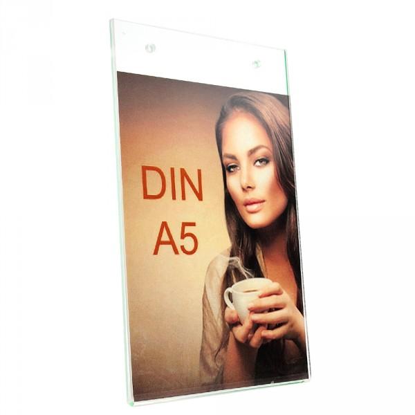 Wanddisplay Einzelblatt DIN A5 Löcher durchgehend Hochformat