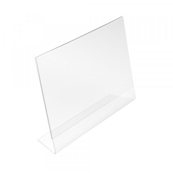 Tischaufsteller L-Form geneigt DIN A4 Querformat