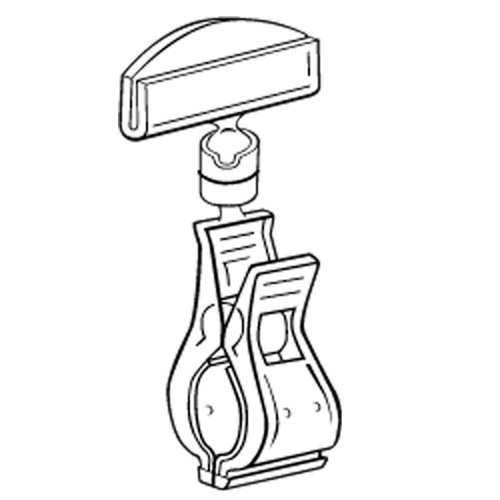 Schildhalter groß 50mm/Rohrklammer - VersaGrip