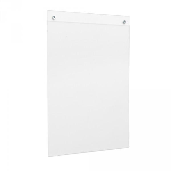 Wanddisplay Einzelblatt DIN A4 Hochformat Poly