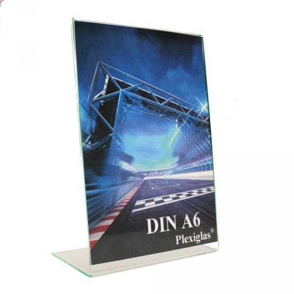 Plexiglas® Tischaufsteller L-Form schräg - DIN A6