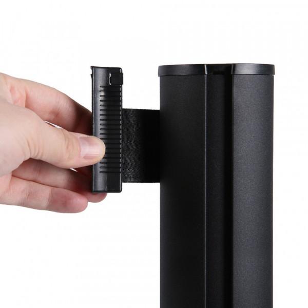 Absperrständer schwarz mit Gurtband 260cm