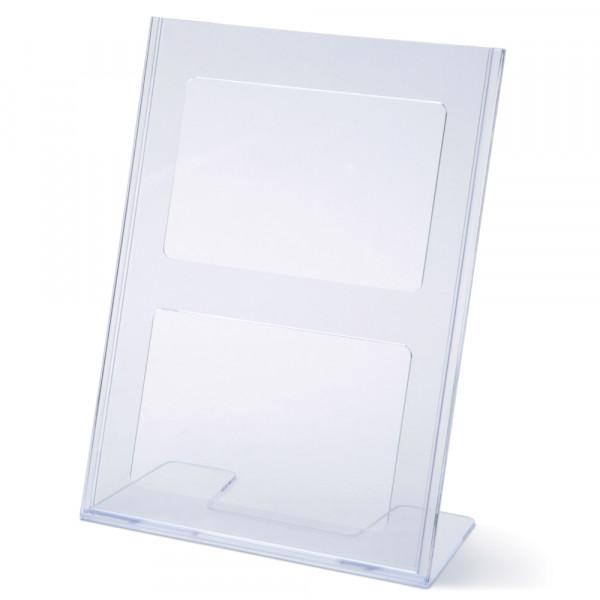 Tischaufsteller Toploader L-Form geneigt DIN A4
