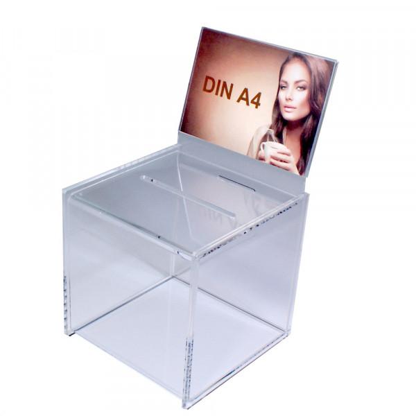 Zubehör: Topschild DIN A4 quer für Premium Losbox 30cm