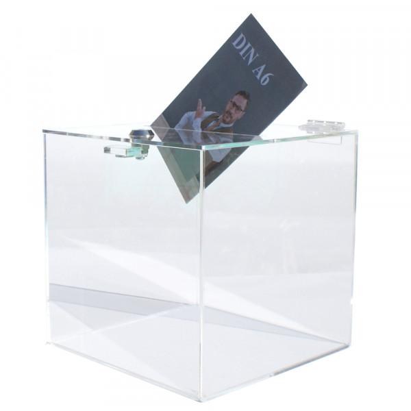 Losbox 25cm Kantenlänge ECO - Acryl mit Schloss