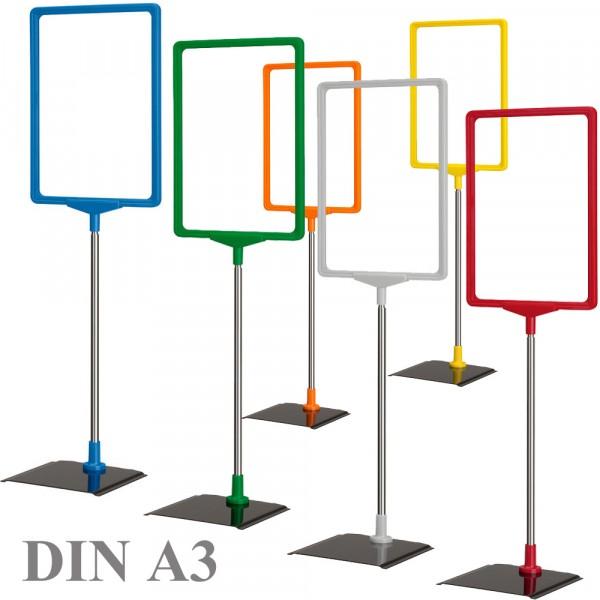 Plakatständer DIN A3 - Serie Alpha - Farbe wählbar