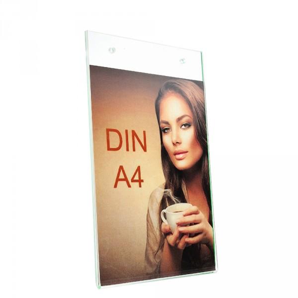 Wanddisplay Einzelblatt DIN A4 Löcher durchgehend Hochformat