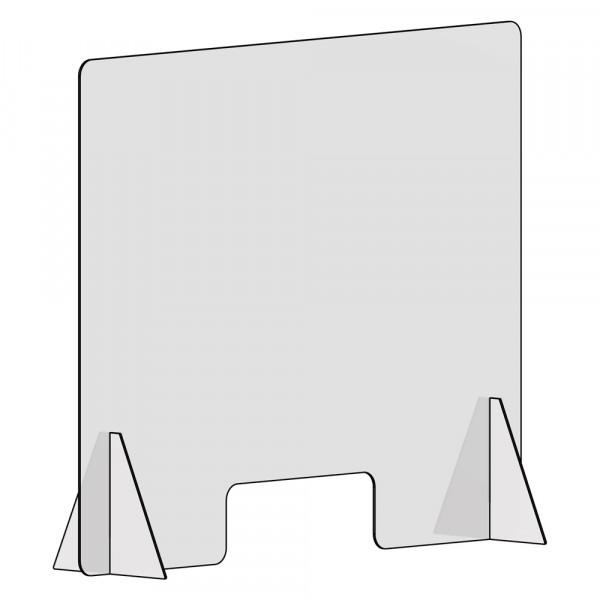 Spuckschutz 100x100cm (B/H) mit Durchreiche