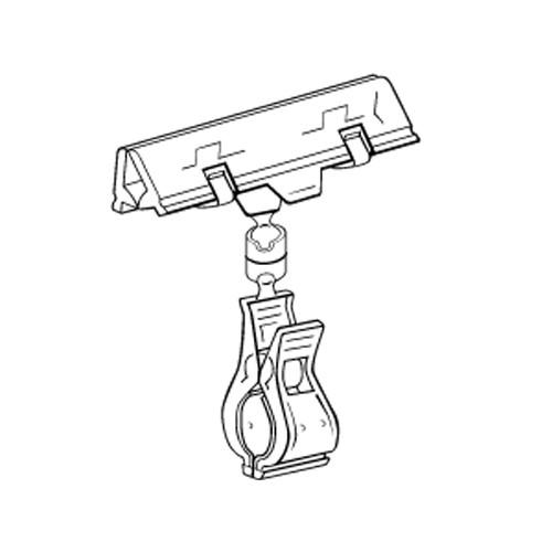 Schildhalter Feder 80mm/Rohrklammer - VersaGrip
