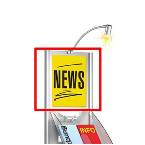 Zubehör: Infoschild DIN A4 für Ständer Tec-Art