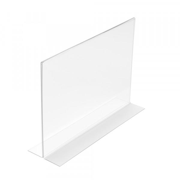 Tischaufsteller T-Form DIN A4 Querformat