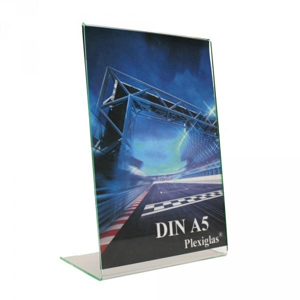 Plexiglas® Tischaufsteller L-Form schräg - DIN A5