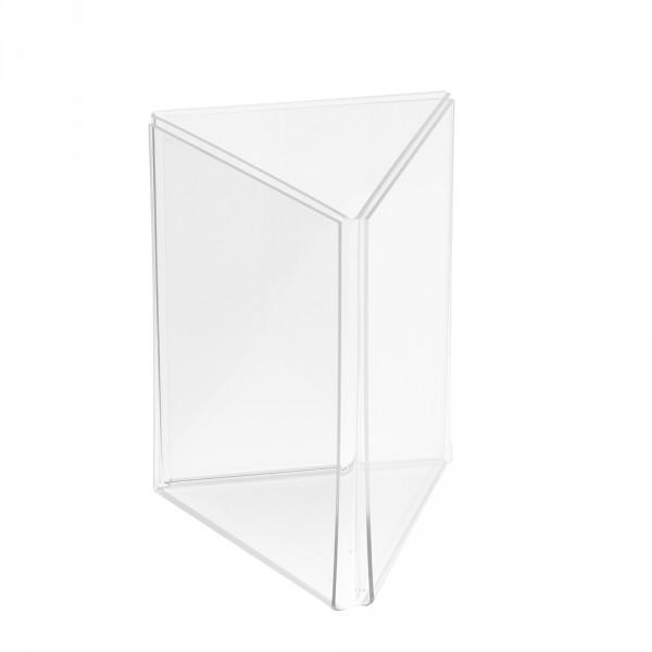 Werbeaufsteller Dreiecks-Form 3-fach DIN A6 Poly