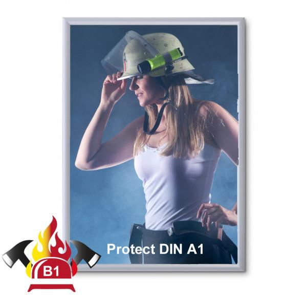 Klapprahmen FireProtection 25mm DIN A1 Brandschutznorm B1