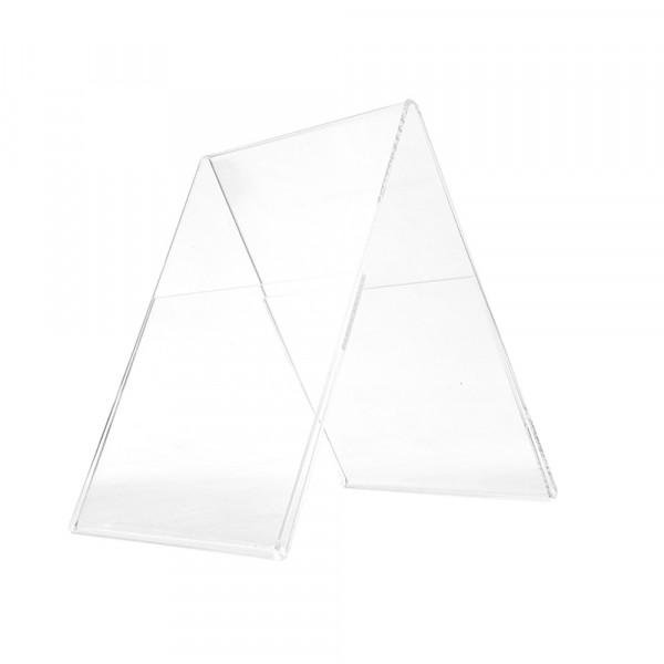 Plexiglas® Aufsteller Dachform - DIN A5 Hochformat