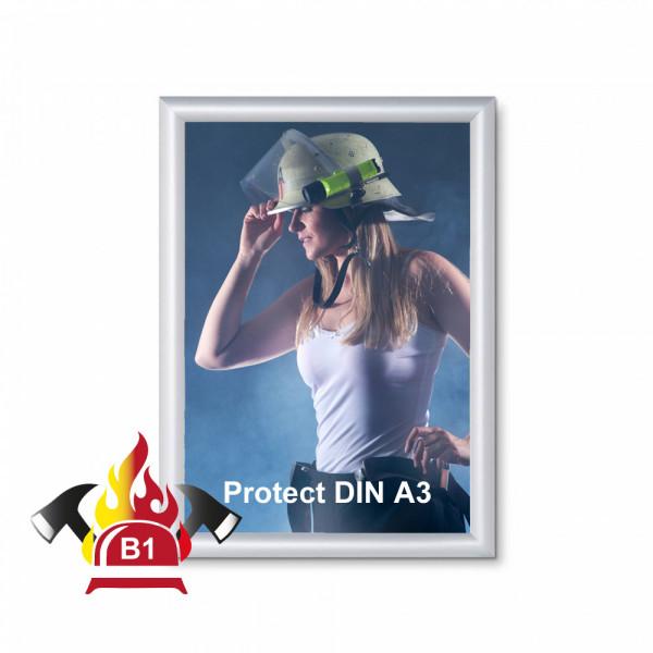 Klapprahmen FireProtection 25mm DIN A3 Brandschutznorm B1