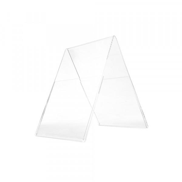 Plexiglas® Aufsteller Dachform - DIN A6 Hochformat