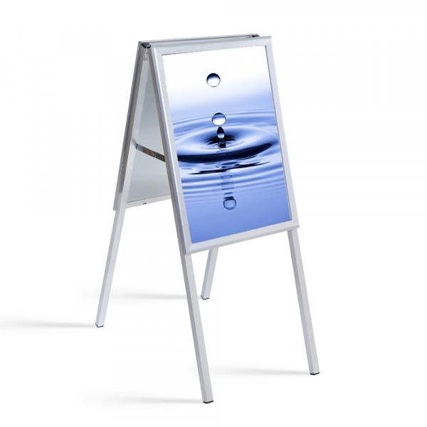Kundenstopper wasserdicht DIN A2 mit UV-Folientaschen