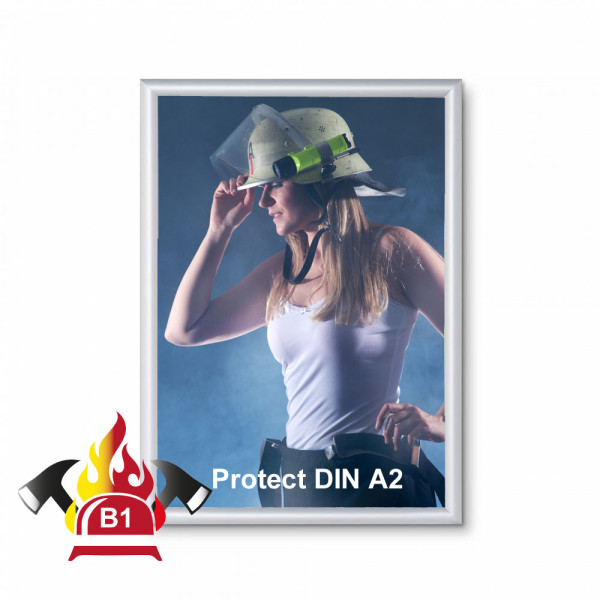 Klapprahmen FireProtection 25mm DIN A2 Brandschutznorm B1
