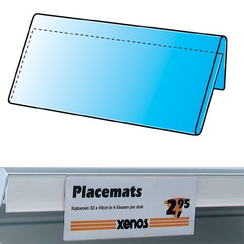 Preishülle zum Einhängen in Regalboden 210x73mm 25er Pack