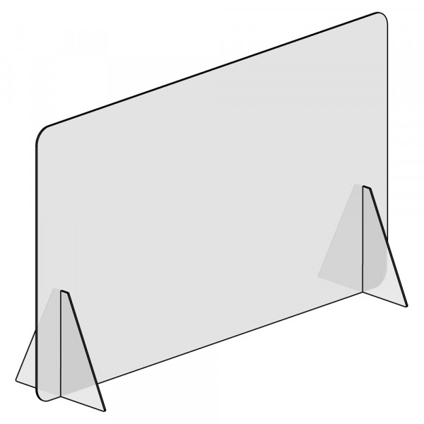 Spuckschutz 120x70cm (B/H) ohne Durchreiche