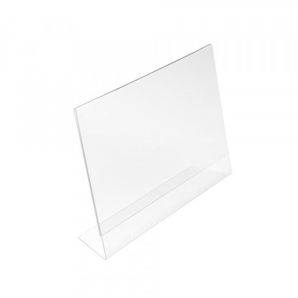 Tischaufsteller L-Form geneigt DIN A5 Querformat