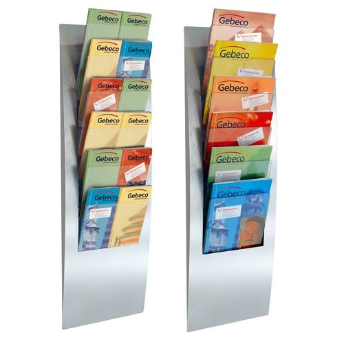 Wand - Prospekthalter Varia 6 x A4, 6x A5 oder 12x DIN lang