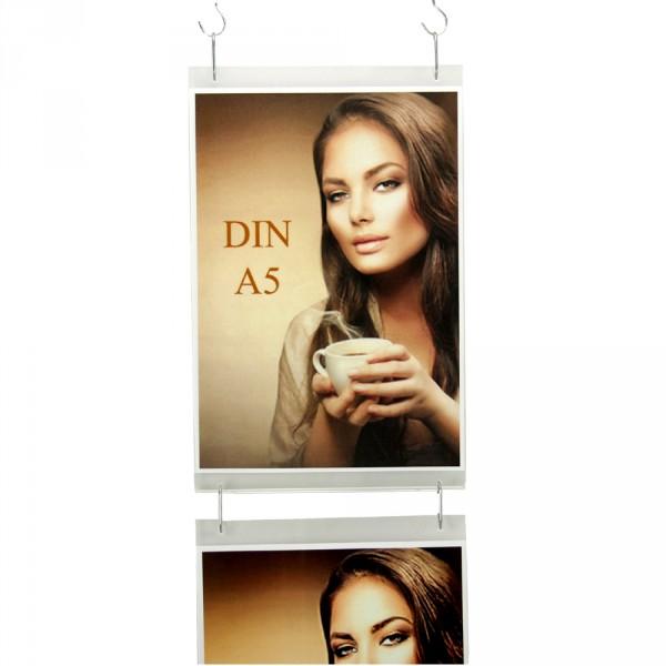 Wanddisplay Einzelblatt DIN A5 Hochformat in Endlos-Hängung