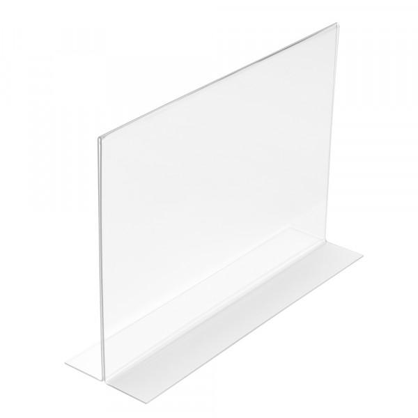 Tischaufsteller T-Form DIN A3 Querformat