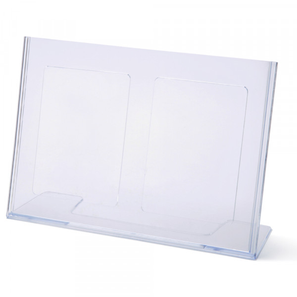Tischaufsteller Toploader L-Form geneigt DIN A4 Querformat