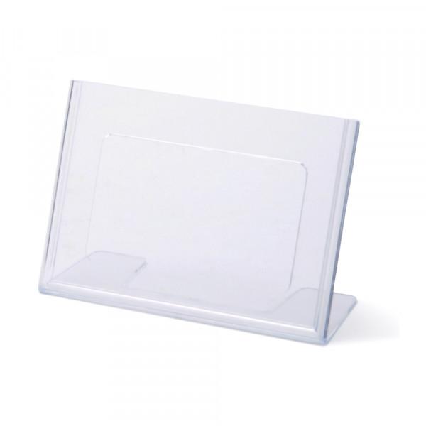 Tischaufsteller Toploader L-Form geneigt DIN A6 Querformat