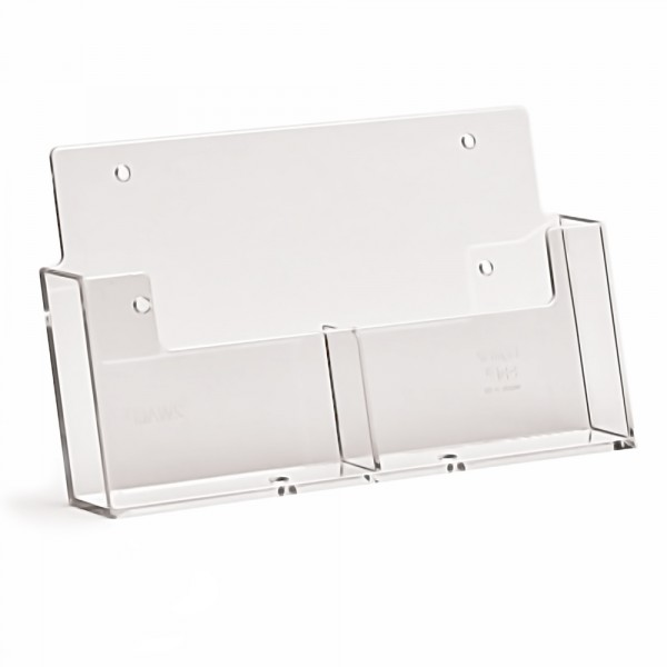 Wand-Prospekthalter Taymar® DIN A6 - 2 Fächer nebeneinander