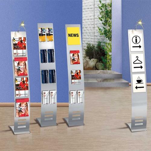 Infoständer schmal, 165 x 26cm