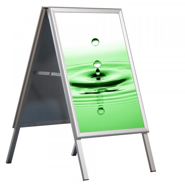 Kundenstopper wasserdicht DIN A1 mit UV-Folientaschen