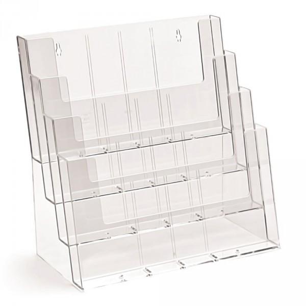 Prospektständer Tribüne Taymar® 4 Etagen - DIN A4, DIN A5, DIN lang