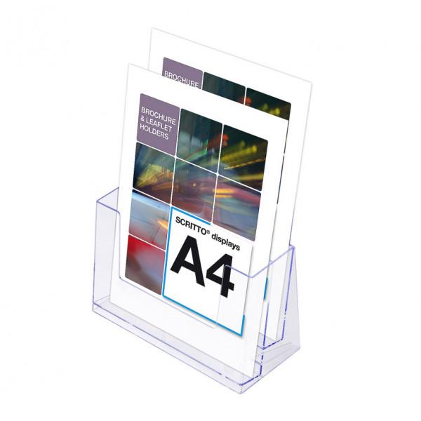 Prospektständer Scritto® DIN A4 2 Etagen - 2 Fächer
