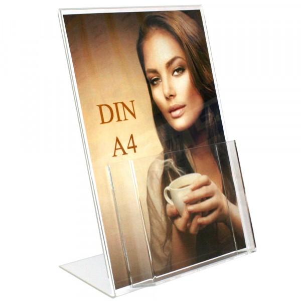 Premiumaufsteller DIN A4 mit Box DIN A5 Hochformat