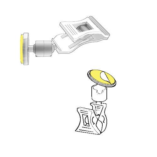 Schildhalter Klammer mit Klebepunkt - VersaGrip
